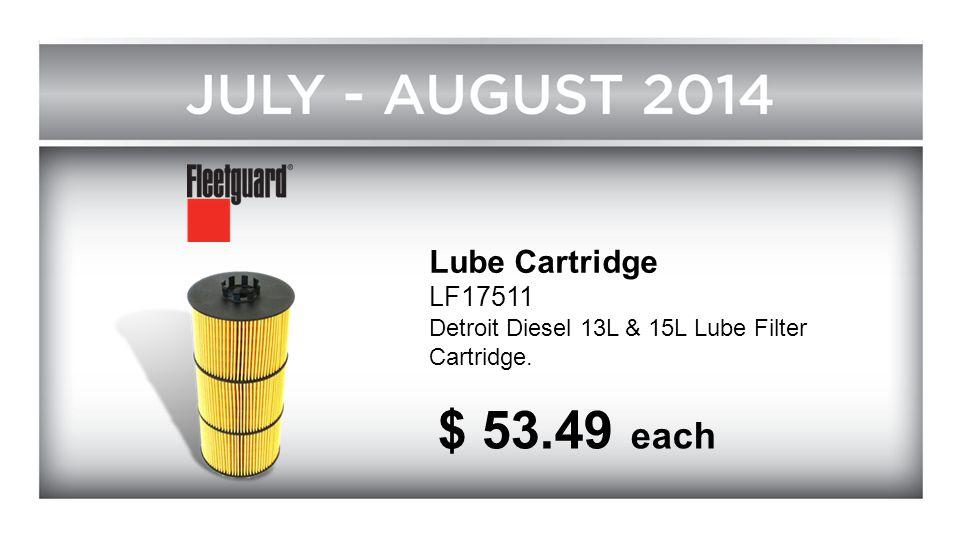 Lube Cartridge LF17511 Detroit Diesel 13L & 15L Lube Filter Cartridge. $ 53.49 each
