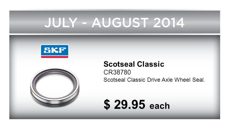 Scotseal Classic CR38780 Scotseal Classic Drive Axle Wheel Seal. $ 29.95 each
