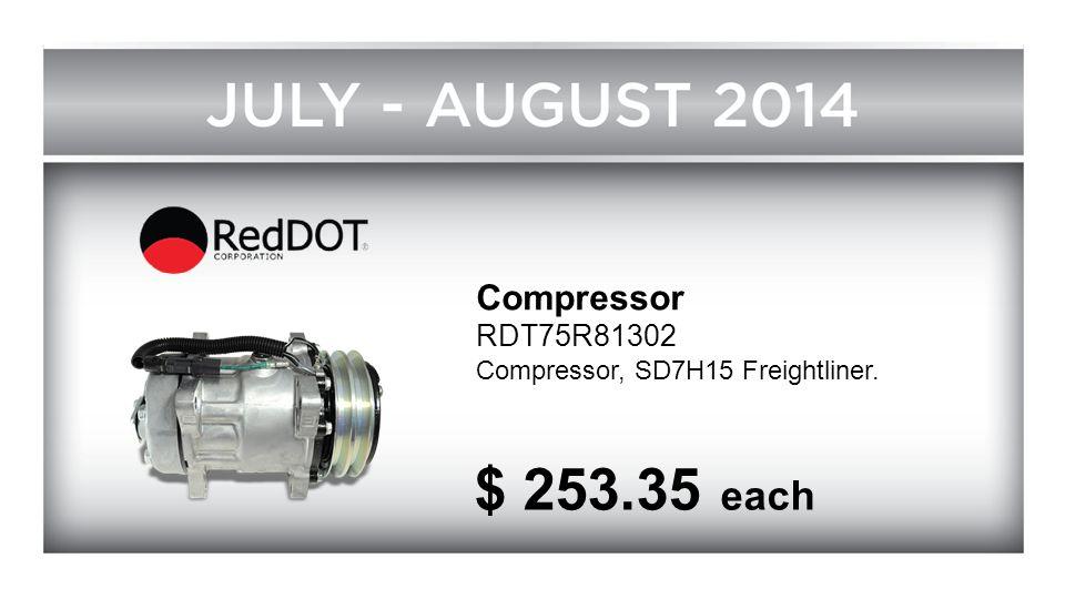 Compressor RDT75R81302 Compressor, SD7H15 Freightliner. $ 253.35 each