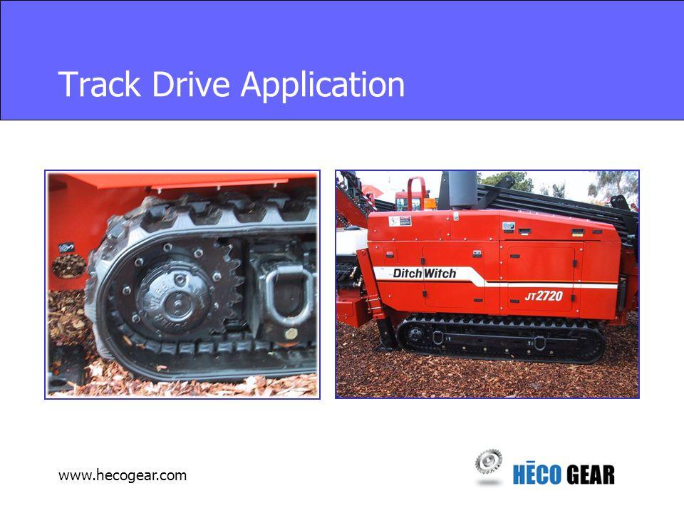 www.hecogear.com Track Drive Application