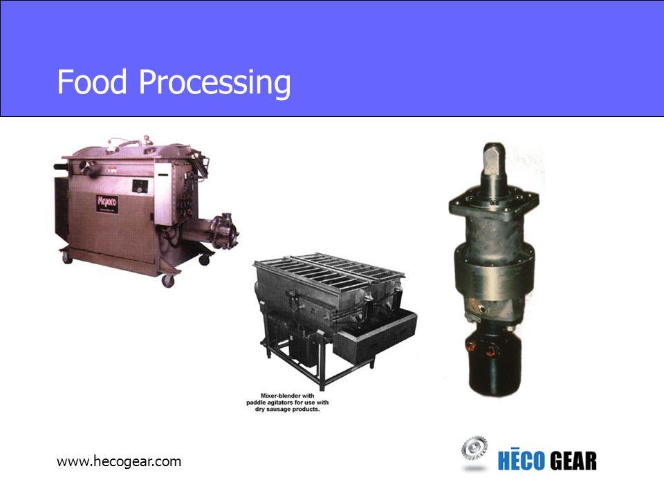 www.hecogear.com Food Processing