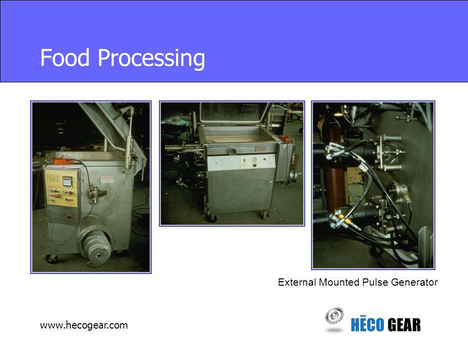 www.hecogear.com Food Processing External Mounted Pulse Generator