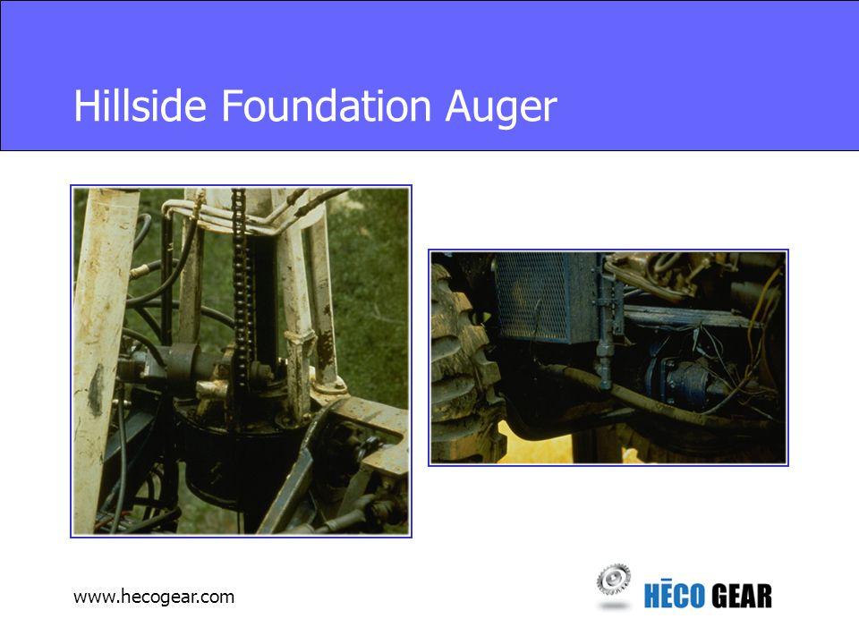 www.hecogear.com Hillside Foundation Auger