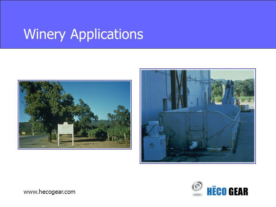 www.hecogear.com Winery Applications
