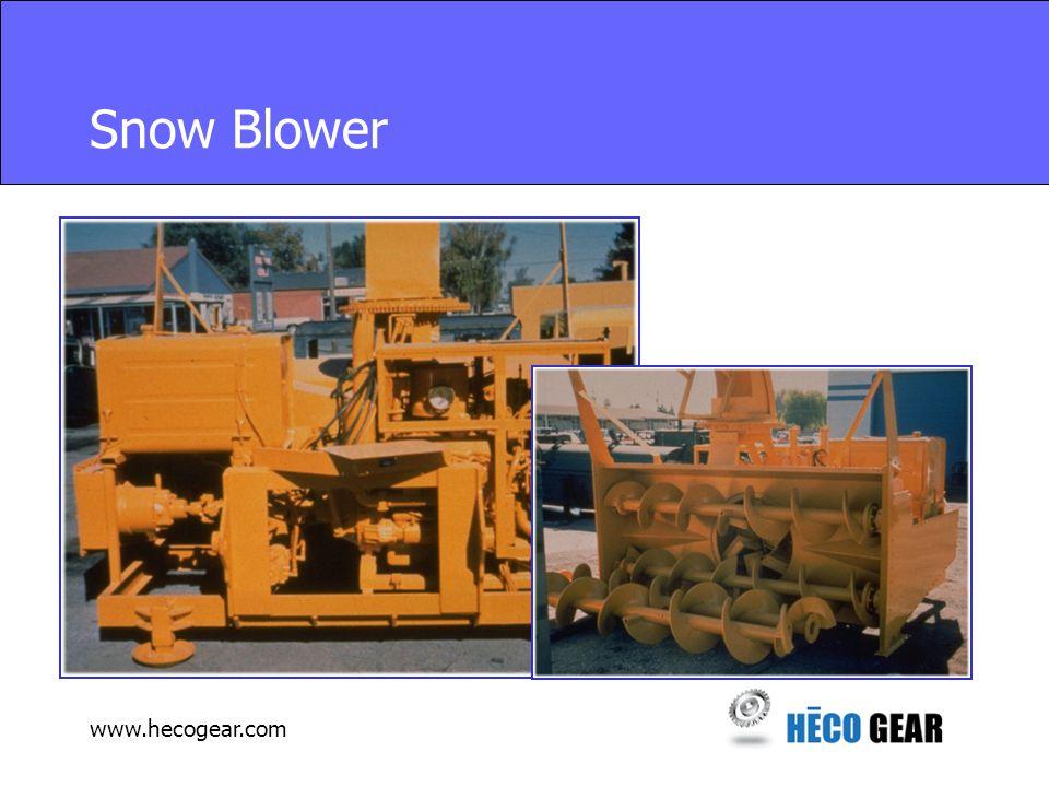 www.hecogear.com Snow Blower