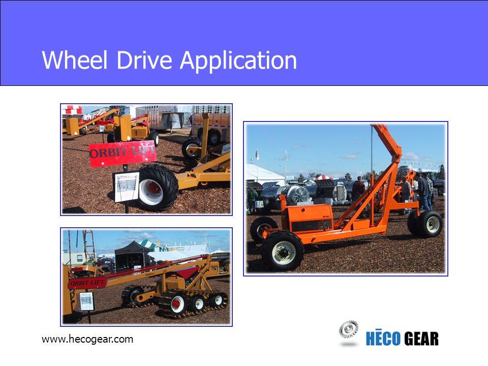 www.hecogear.com Wheel Drive Application