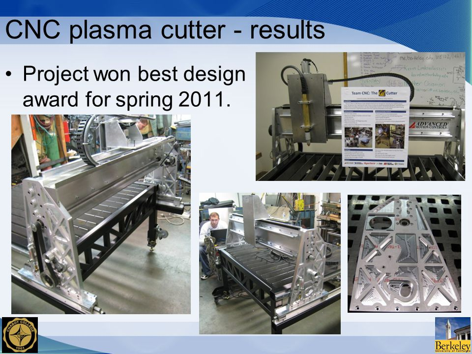 CNC plasma cutter - results Project won best design award for spring 2011.