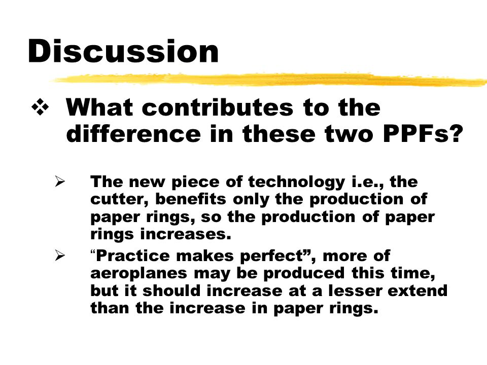 Discussion  What contributes to the difference in these two PPFs.