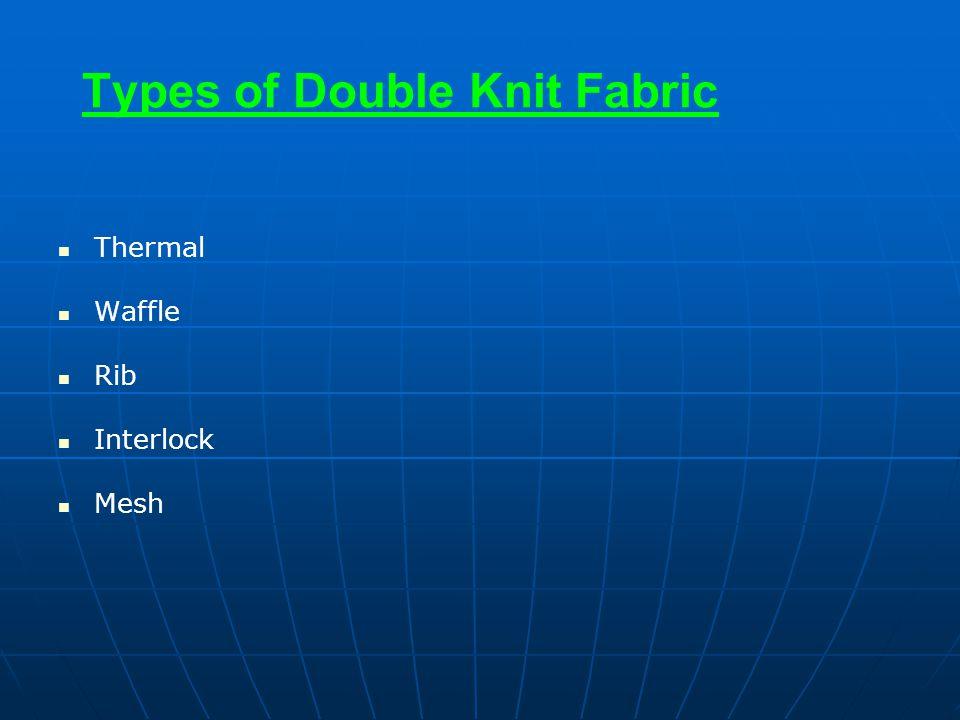 Types of Double Knit Fabric Thermal Waffle Rib Interlock Mesh