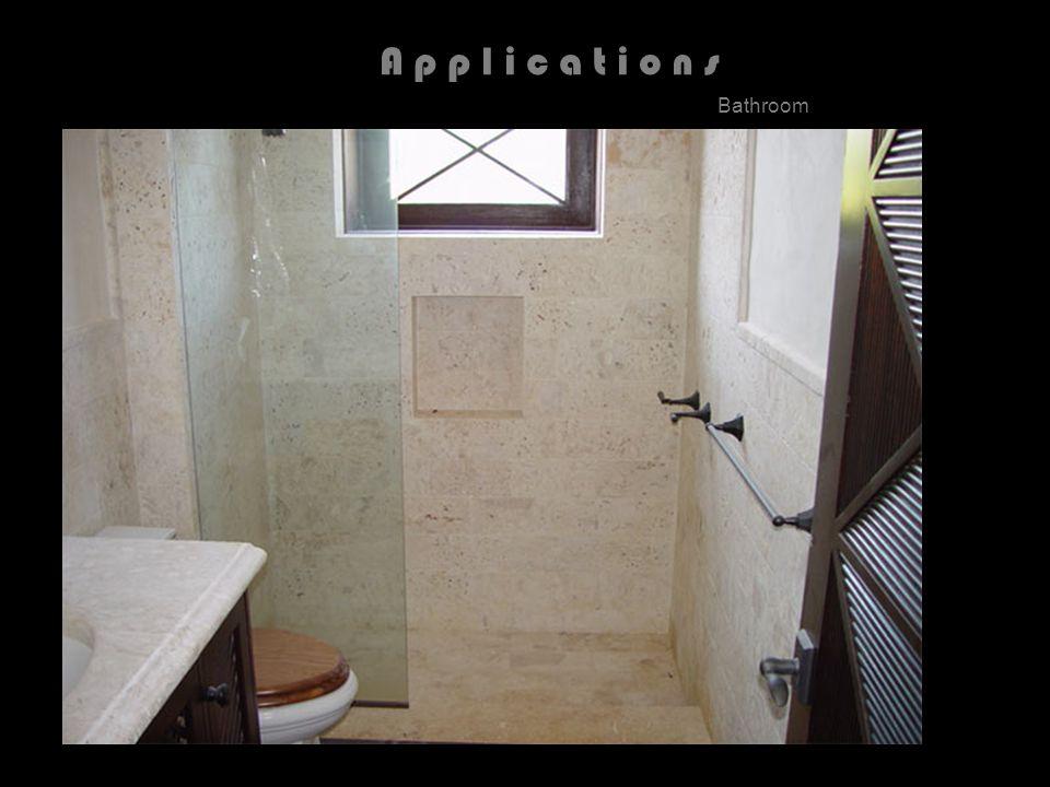 A p p l i c a t i o n s Bathroom