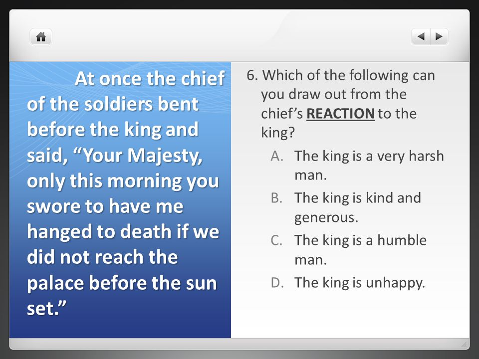 7.Which of the following can you draw out from the stone- cutter's ACTIONS.