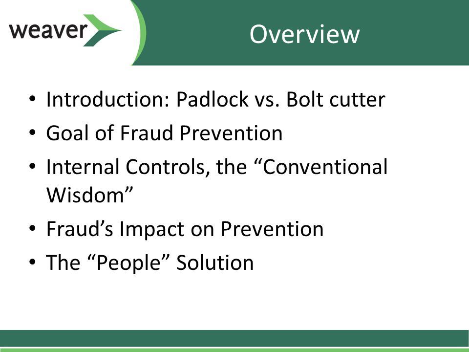 Overview Introduction: Padlock vs.