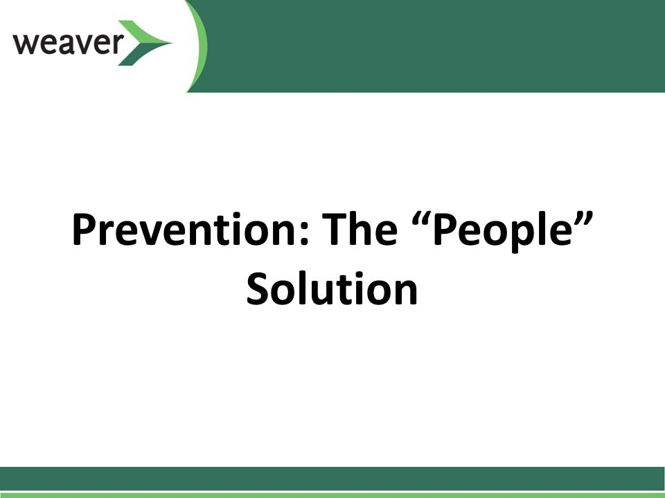 Prevention: The People Solution