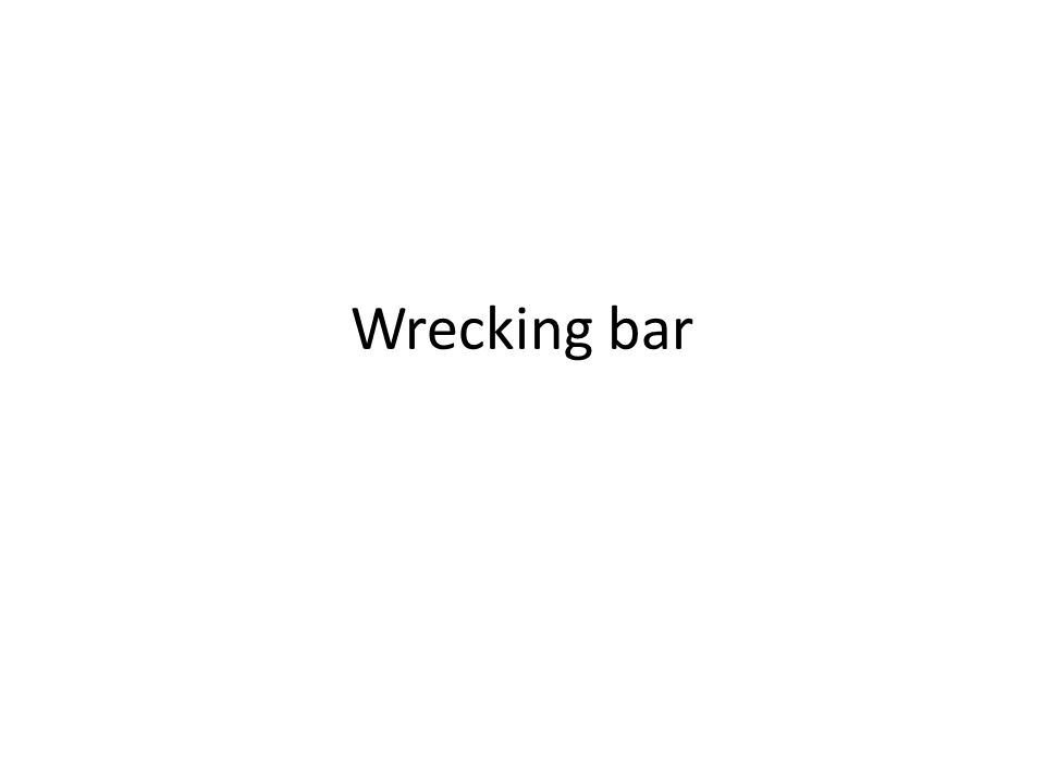 Wrecking bar