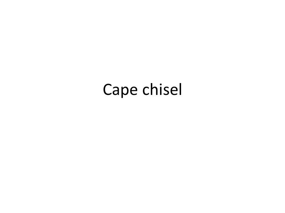 Cape chisel