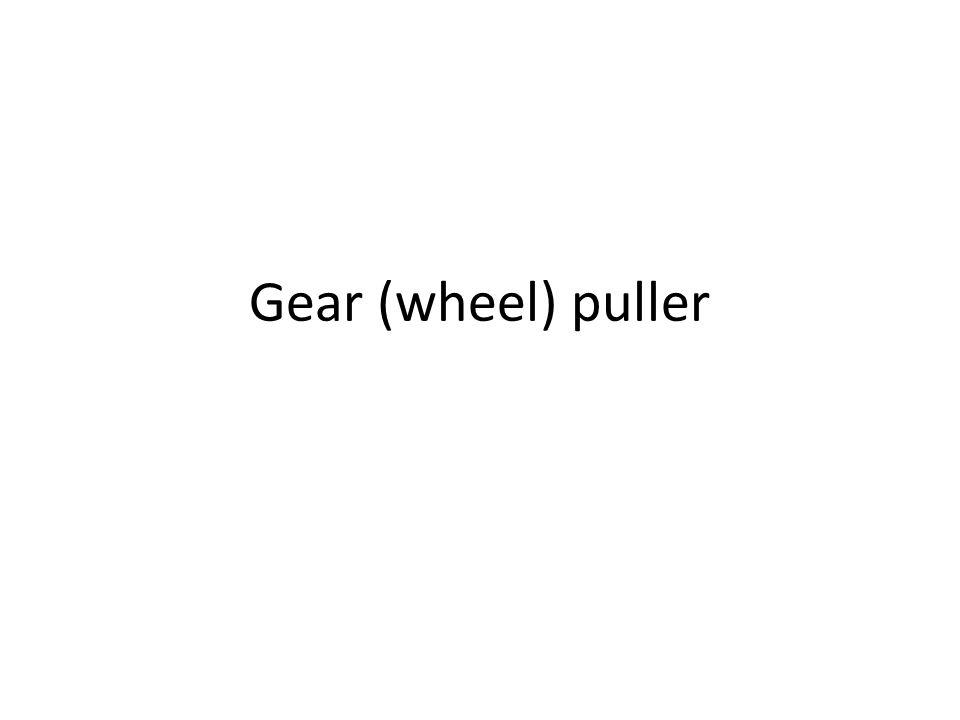 Gear (wheel) puller