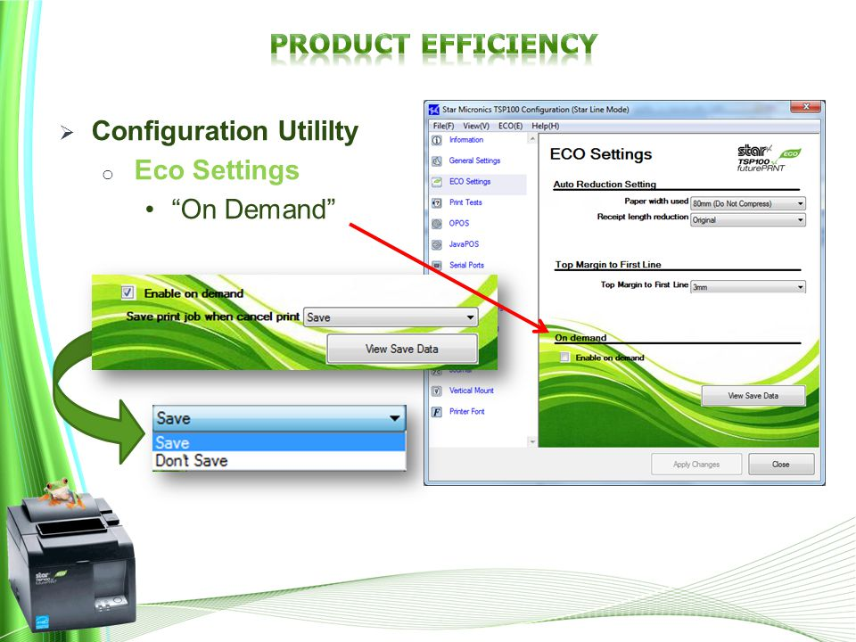  Configuration Utililty o Eco Settings On Demand