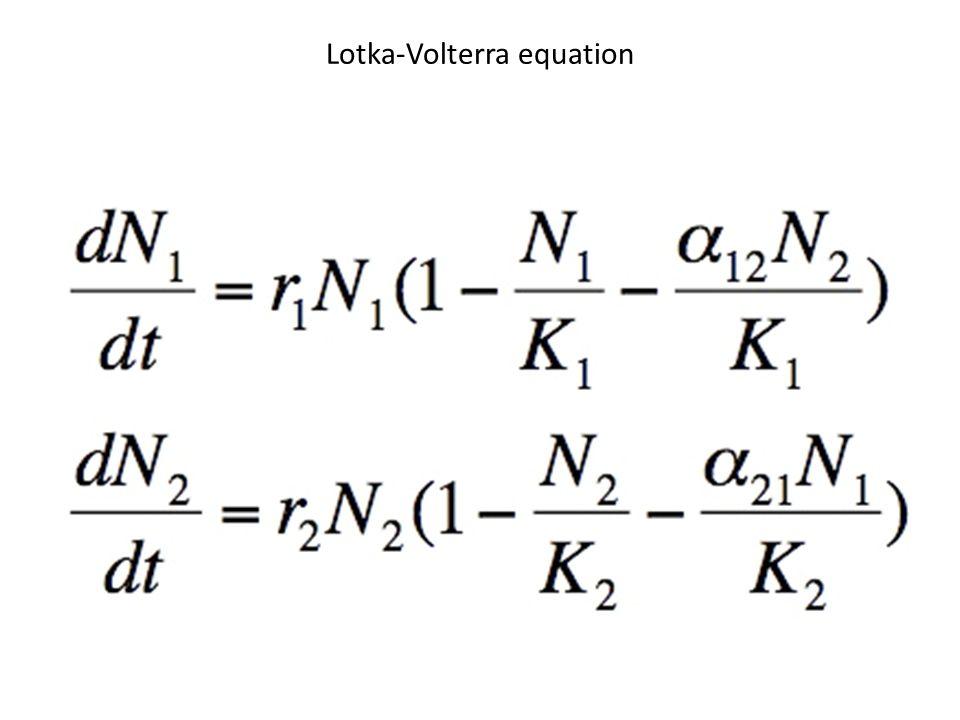 Lotka-Volterra equation