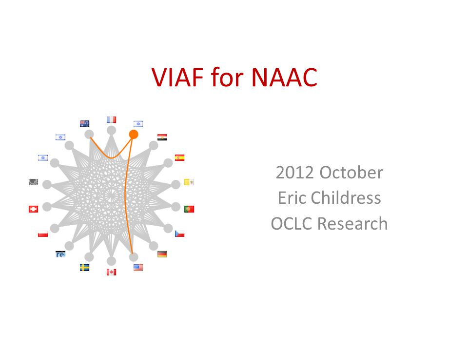 VIAF for NAAC 2012 October Eric Childress OCLC Research