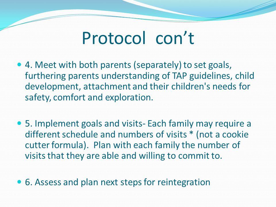 Protocol con't 4.