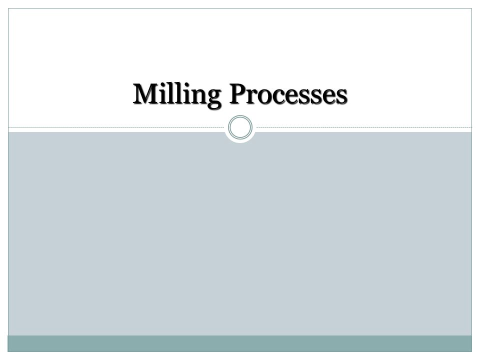 Milling is one of the basic machining processes.