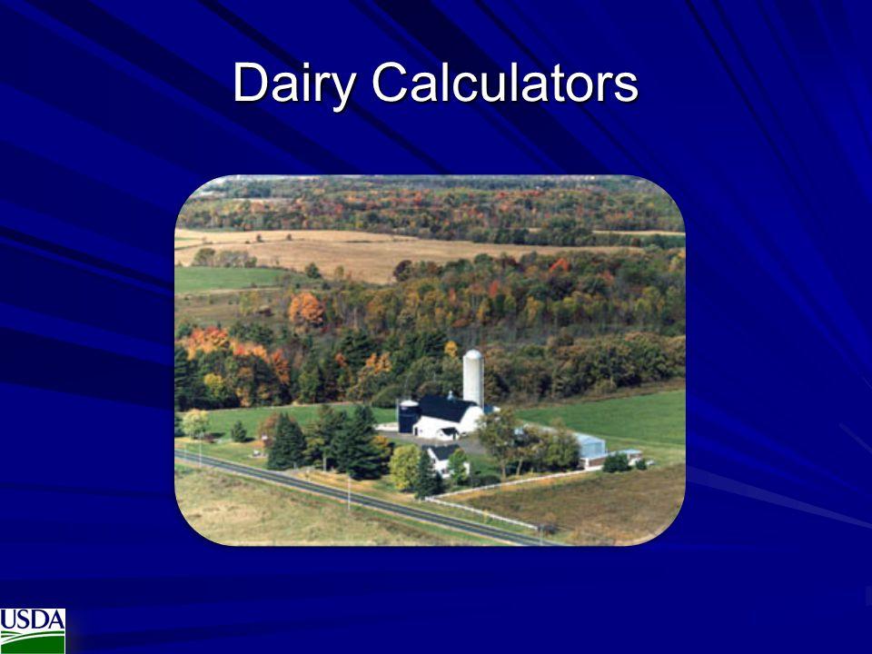 Dairy Calculators