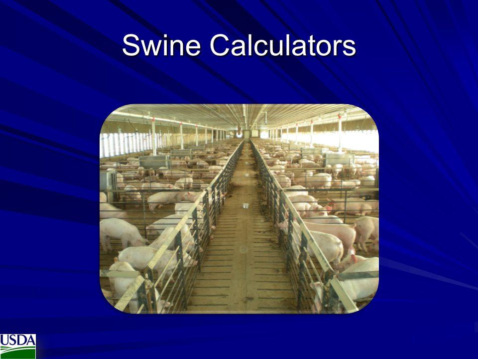 Swine Calculators