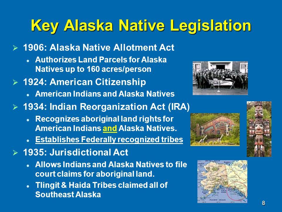Alaska 1959-70   Supreme Court Upholds 1935 Tlingit Land Claim   State Public land selections Some on Native lands Result: Court-ordered Land Freeze   Black Gold.
