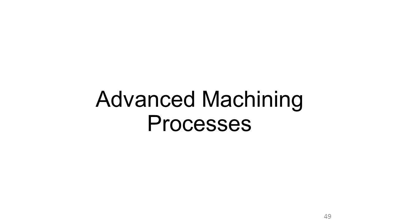 Advanced Machining Processes 49