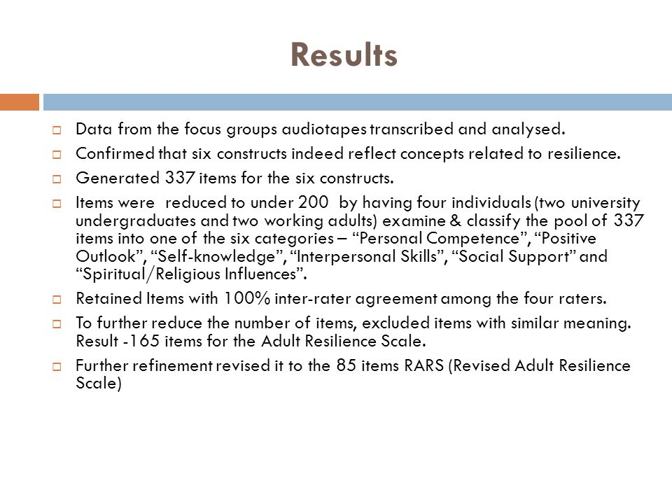 Results  Data from the focus groups audiotapes transcribed and analysed.