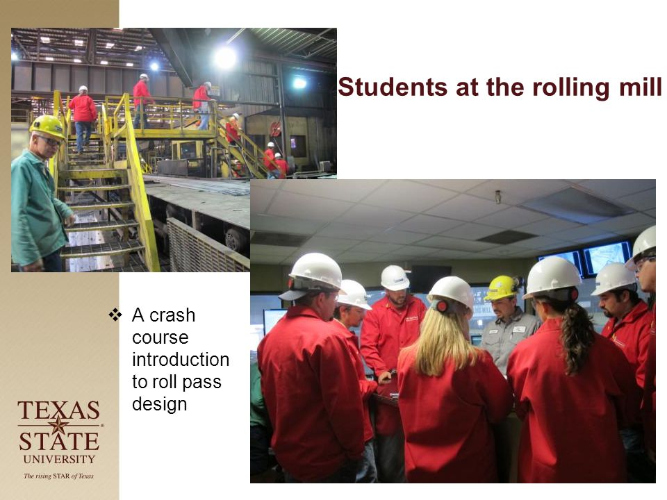 Students at the rolling mill  A crash course introduction to roll pass design
