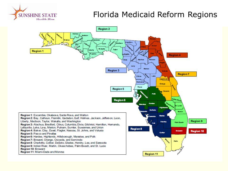 Florida Medicaid Reform Regions