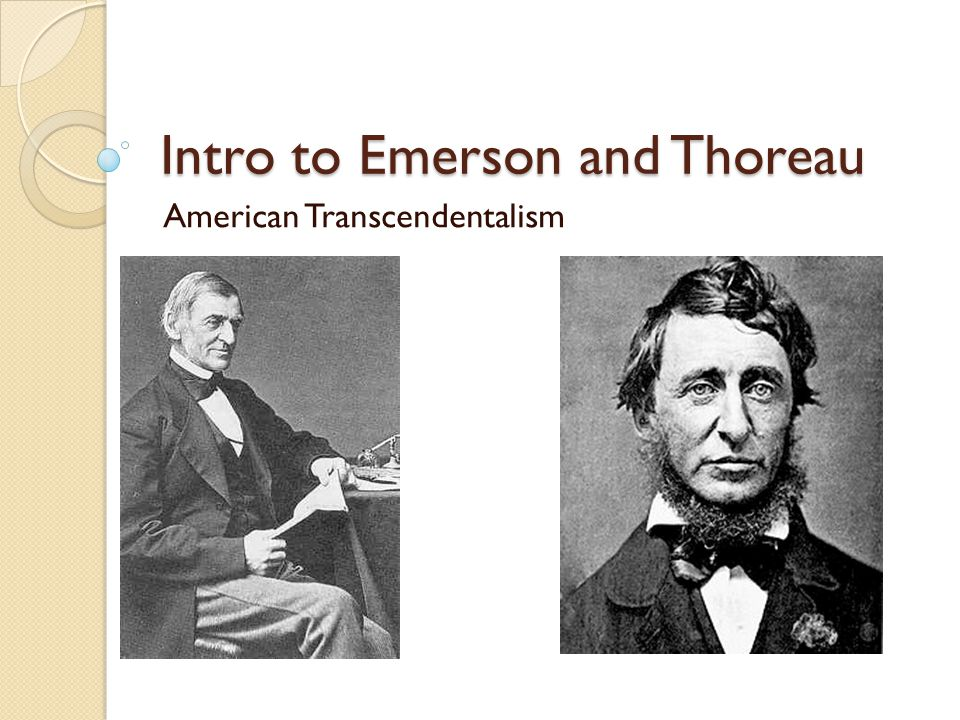 Emerson— some big take-aways How does one know nature.