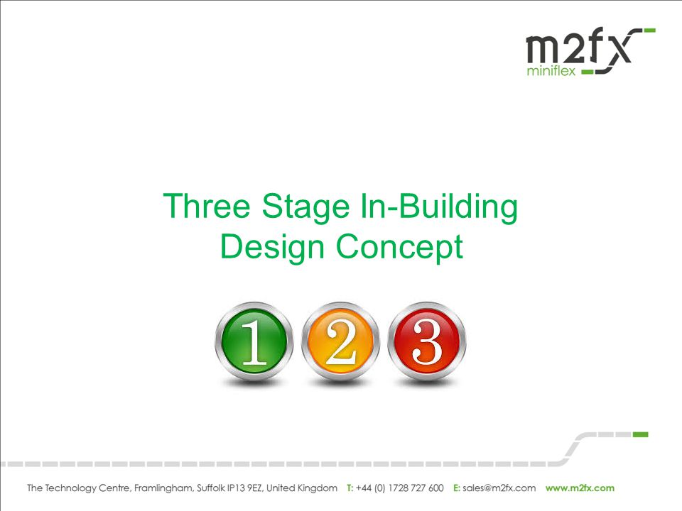 Three Stage In-Building Design Concept