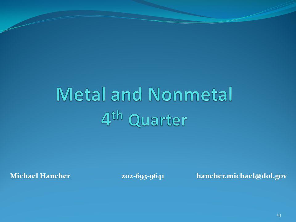 19 Michael Hancher202-693-9641 hancher.michael@dol.gov