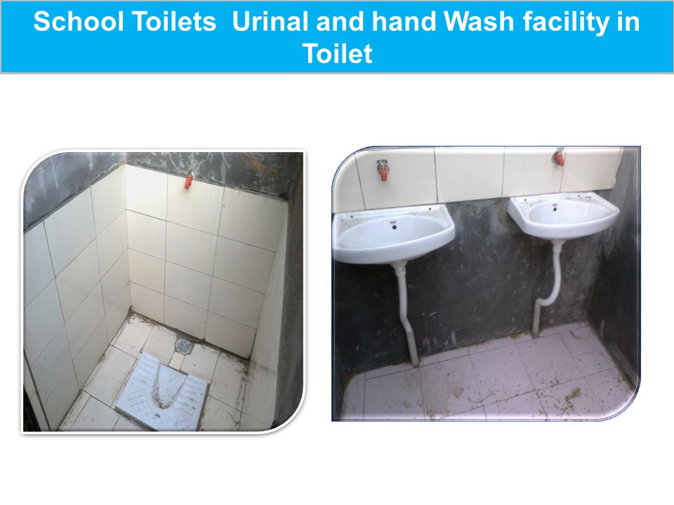 School Toilets Urinal and hand Wash facility in Toilet