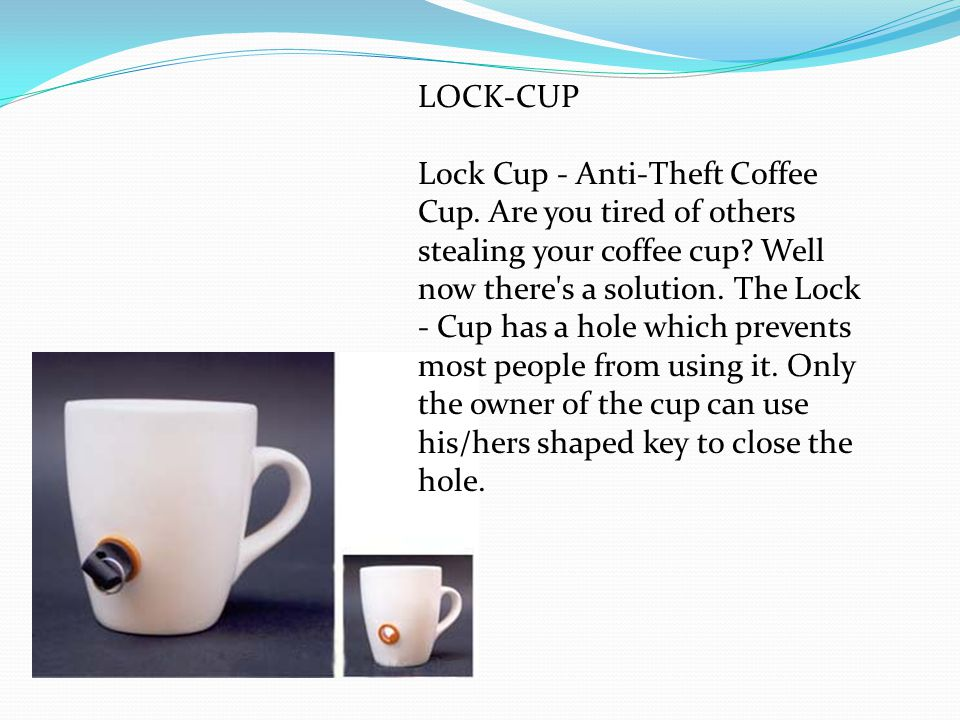 LOCK-CUP Lock Cup - Anti-Theft Coffee Cup. Are you tired of others stealing your coffee cup.