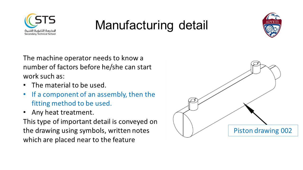 The machine operator needs to know a number of factors before he/she can start work such as: The material to be used.