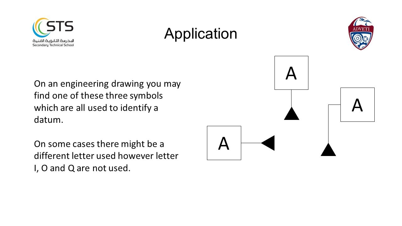 On an engineering drawing you may find one of these three symbols which are all used to identify a datum.