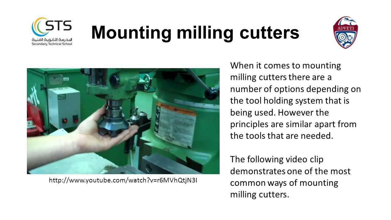 When it comes to mounting milling cutters there are a number of options depending on the tool holding system that is being used. However the principle