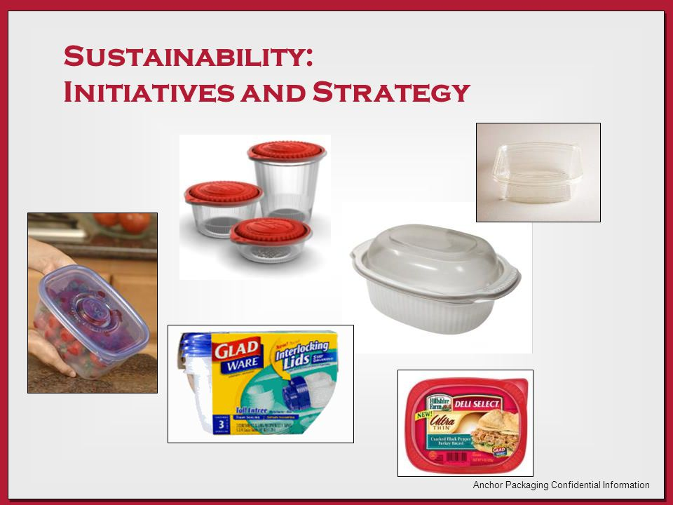 Sustainability: Initiatives and Strategy Anchor Packaging Confidential Information