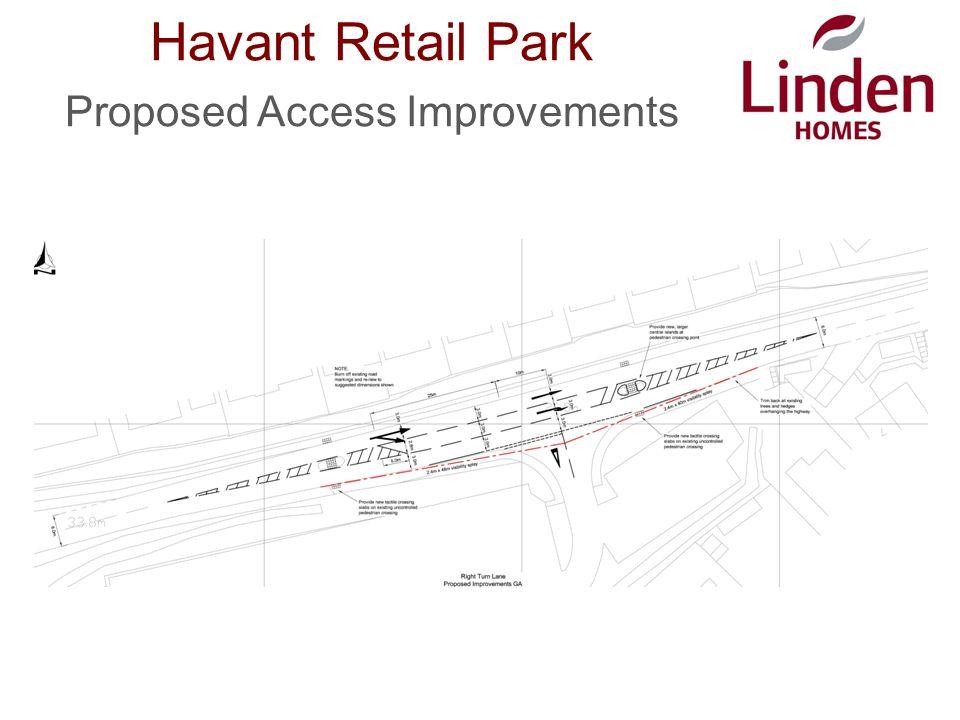 Havant Retail Park Proposed Access Improvements