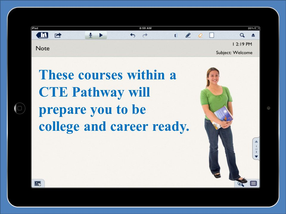 These courses within a CTE Pathway will prepare you to be college and career ready.