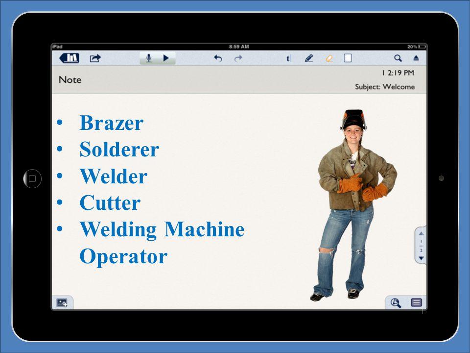 Brazer Solderer Welder Cutter Welding Machine Operator