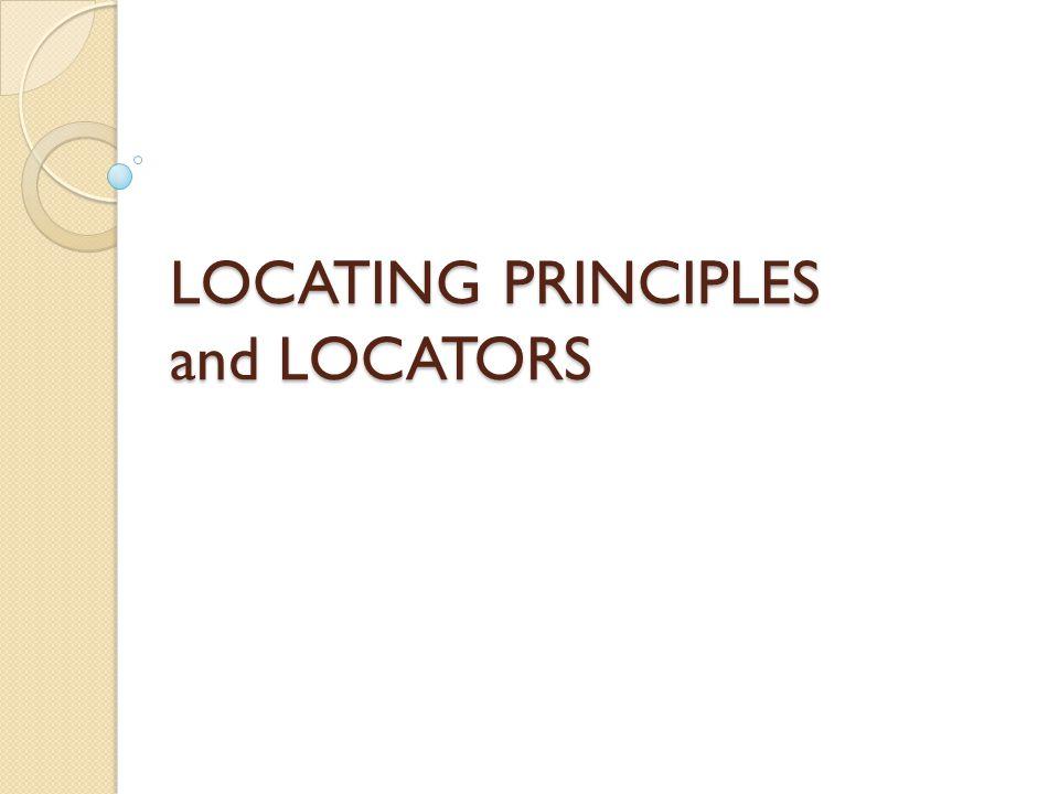 3-2-1 Locating Principle