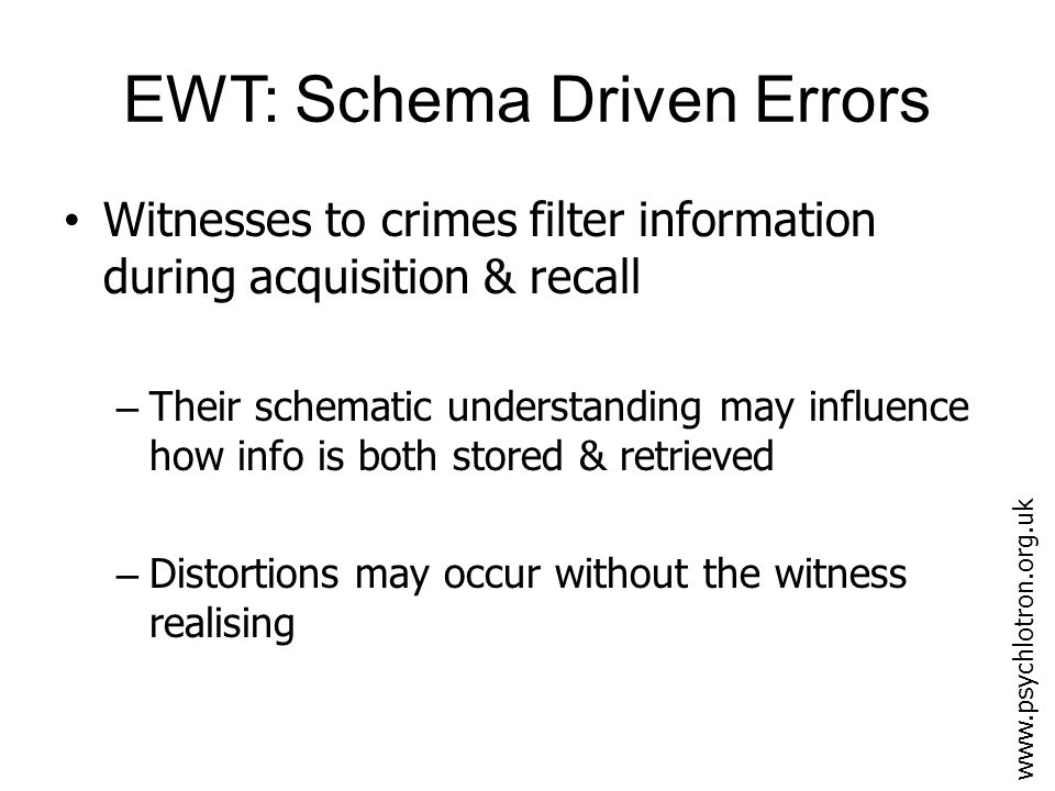 How accurate is eyewitness testimony.