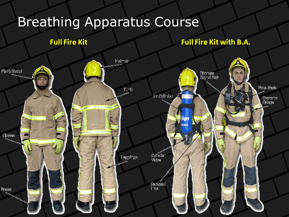 Course Aim The aim of this course is to train Fire-fighters the correct procedures associated with Breathing Apparatus.