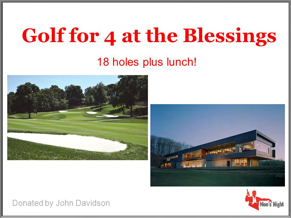 2 Tickets to game pitched by Cliff Lee Golf for 4 at the Blessings 2 Tickets to game pitched by Cliff Lee 18 holes plus lunch.