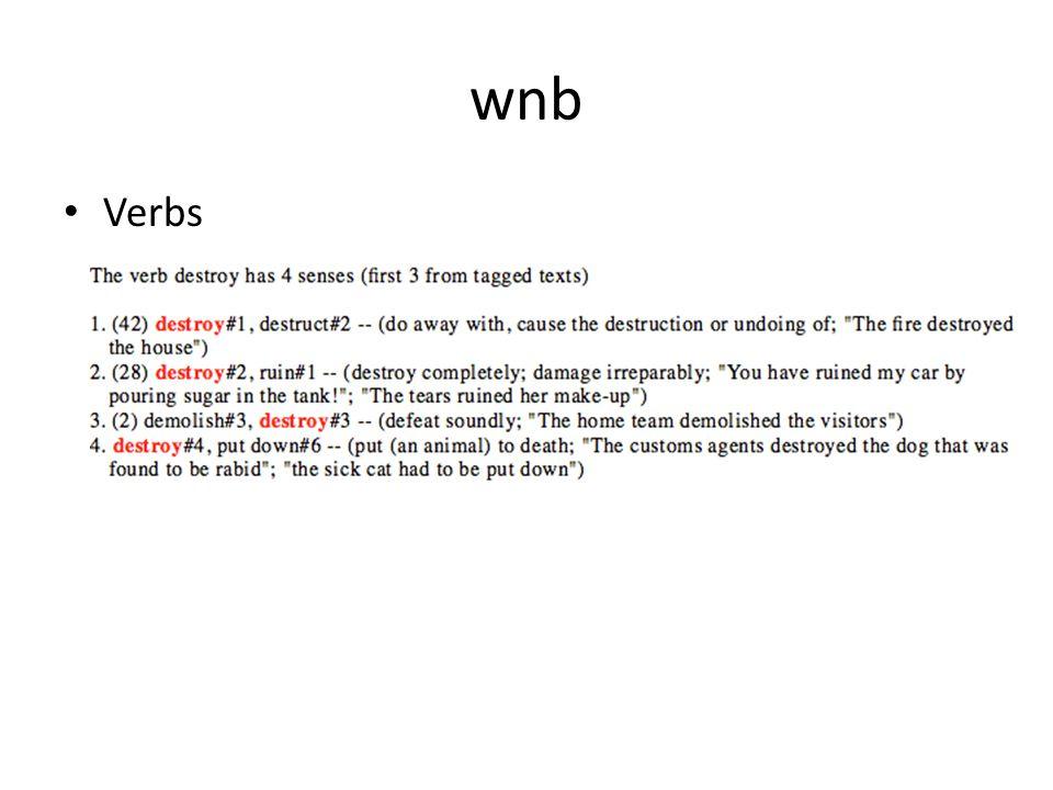 wnb Verbs