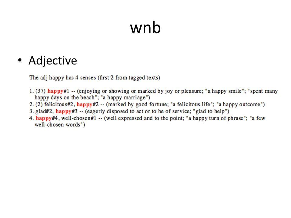 wnb Adjective